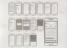 Wireframes with annotations